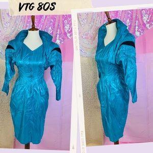Vtg RARE Space Age Lady Gaga Wiggle Dress